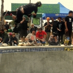 Boosting at Clash at Clairemont Skateboard Contest 2011