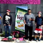 Christian Hosoi won the pink PipeBoard Balance Board at Clash at Clairemont Skateboard Contest 2011