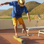 PipeBoarding on Tile - at Villa Paloma in Mexico