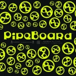 Black & Yellow PipeBoard Balnce Board Graphics