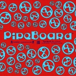 Blue on Thread Red PipeBoard Balnce Board Graphics